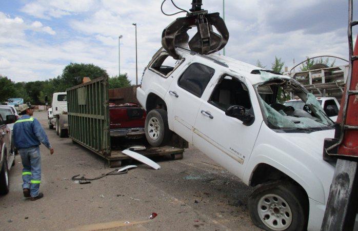 Hacen chatarra mil 700 vehículos usados para cometer delitos