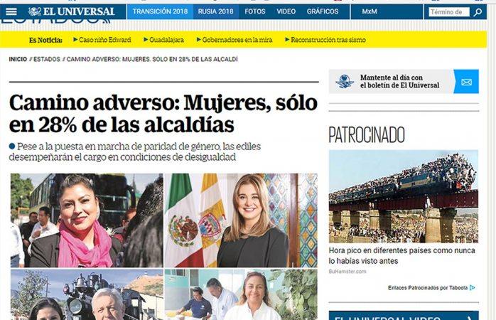 Resalta El Universal triunfo de Maru Campos