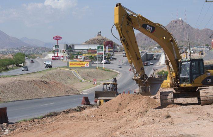 Registra avance del 15% construcción de tercer carril en rúa Aldama-Chihuahua