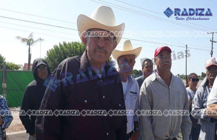 Ejidatarios de colonia terrazas se manifiestan en Delicias