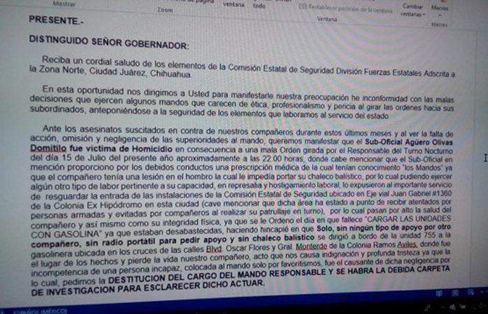 Piden a Corral destituir a mando de CES por negligencia