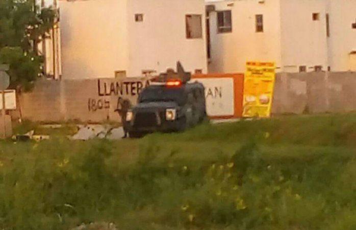 Tras enfrentamiento, soldados detienen a una persona en Reynosa