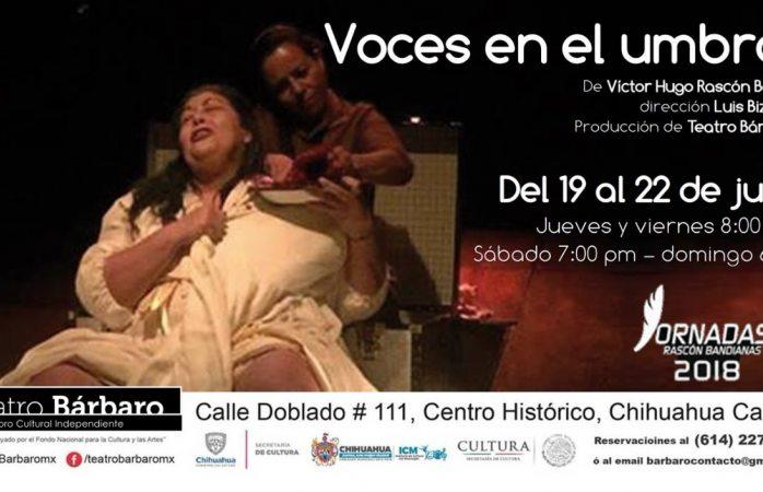 Hoy Voces en el Umbral en Teatro Bárbaro