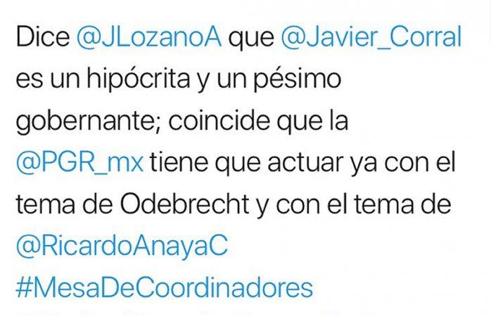 Corral es un hipócrita y un pésimo gobernante: Javier Lozano