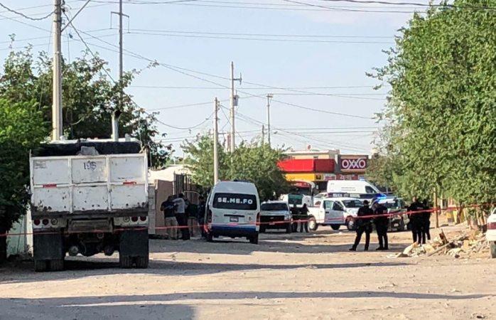 Tiran un ejecutado maniatado en Granjas Los Nogales  en Juárez