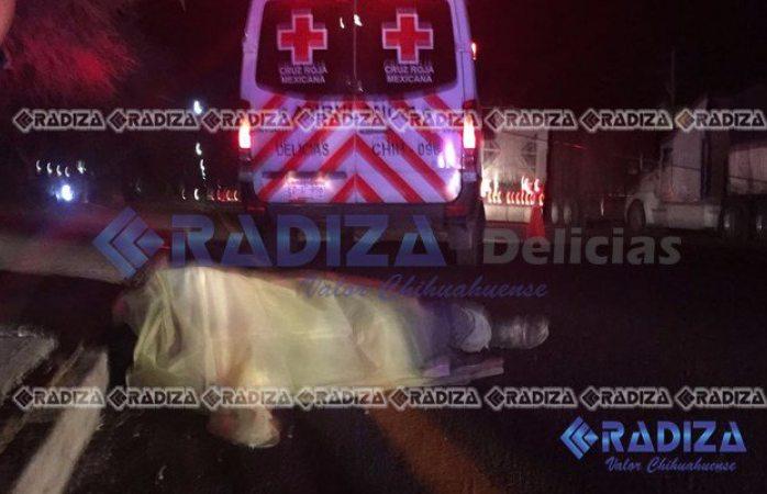 Muere hombre atropellado en Delicias