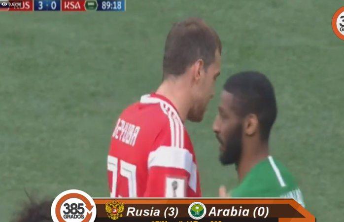 Artiom Dzyuba anota el 3-0 de Rusia sobre Arabia Saudita