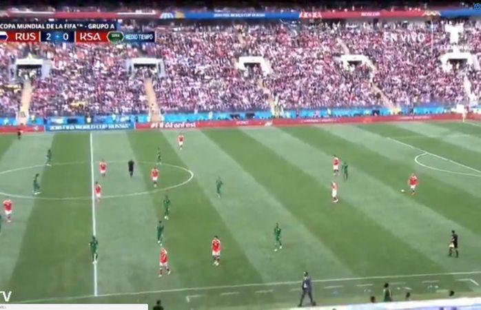 Gana Rusia 2-0 a Arabia Saudita al medio tiempo