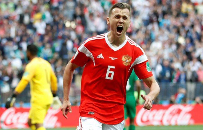 Golea Rusia 5-0 a Arabia Saudita en primer juego del mundial