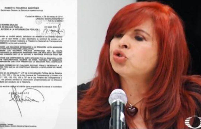 Layda Sansores facturó ropa, comida y tinte del cabello con cargo al Senado