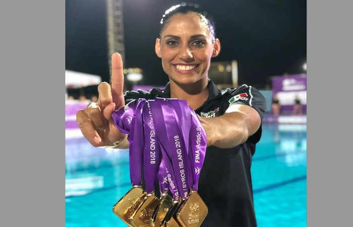 Mexicanas logran 7 oros en Natación Artística