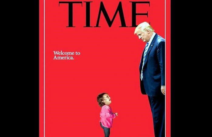 Estremece portada de Times con Trump y niña migrante