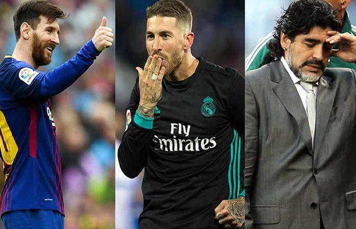 Maradona está a años luz detrás de Messi: Sergio Ramos