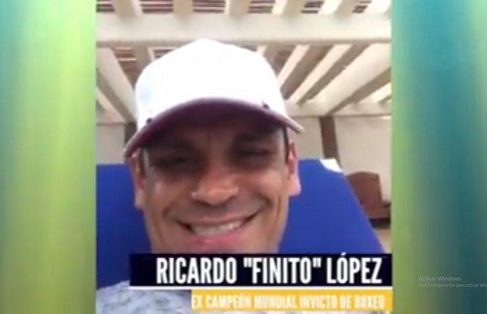 El Finito Lopez saluda a candidato a sindico Ramiro Arroyos
