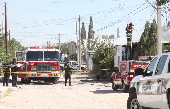 Una persona lesionada en incendio en Villa Nueva