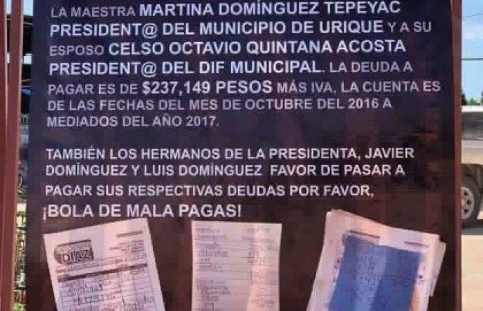 Exhiben deuda de 237 mil en gasolina de alcaldesa de Urique