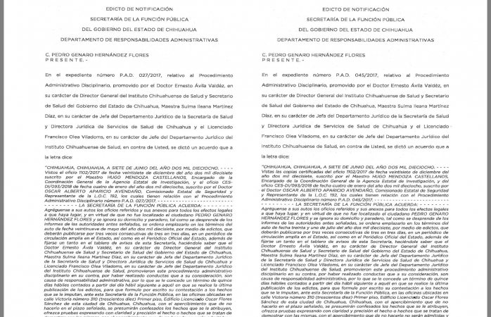 Emplazan a ex secretario de Duarte por sanción administrativa