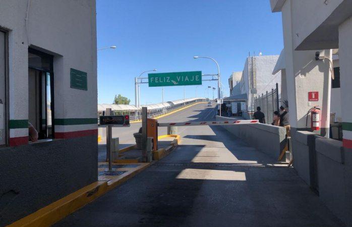 Luce puente Paso del Norte vacío por juego de México