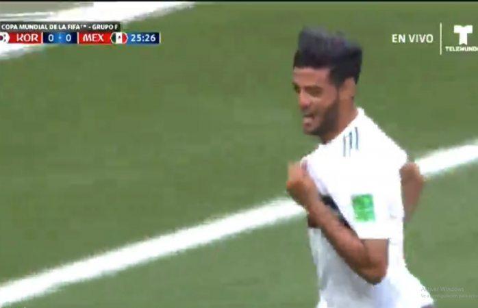 ¡Gol de Carlos Vela!, desde los once pasos