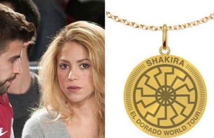 Shakira causa polémica al usar en medalla símbolo Nazi