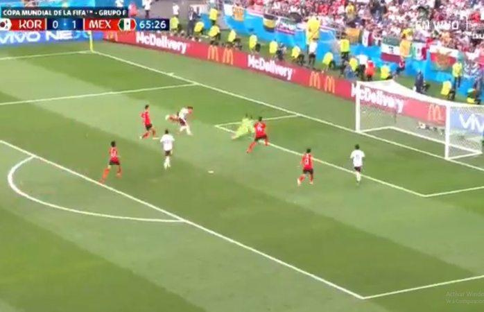 ¡Gol del Chicharito!; Corea del Sur 0-2 México