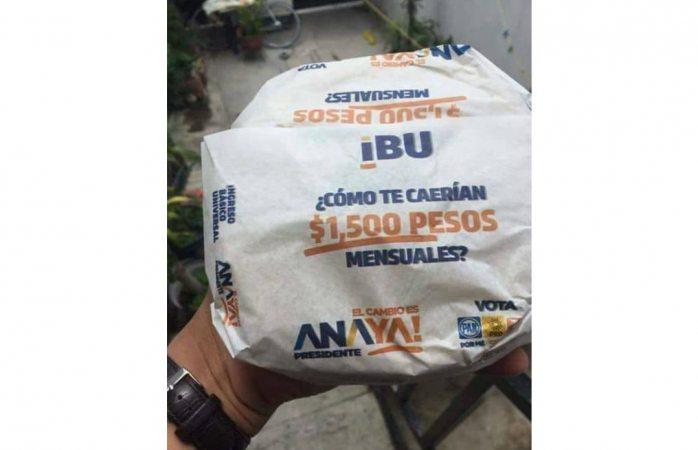 El INE ordena suspender propaganda de Anaya y tarjeta IBU en papel para tortillas