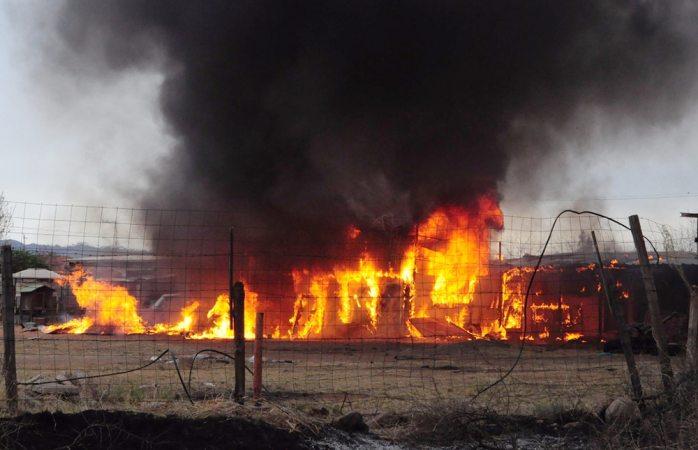Se incendia jacal en la colonia Rinconada Los Nogales