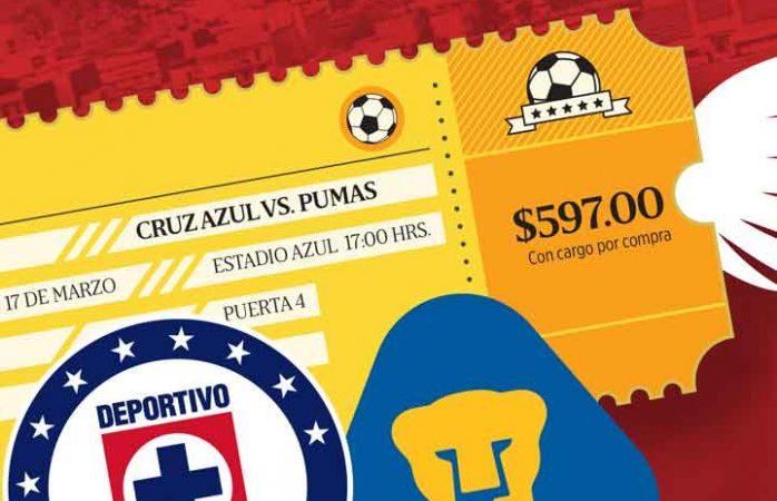 Boletos por las nubes para el partido Cruz Azul  vs Pumas