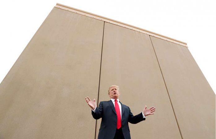 Trump quiere muro transparente en la frontera con México