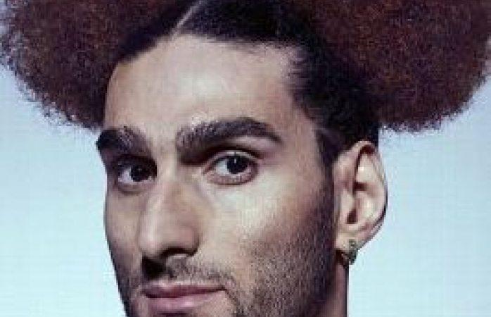 Marouane Fellaini posa con peinado al estilo Mickey Mouse