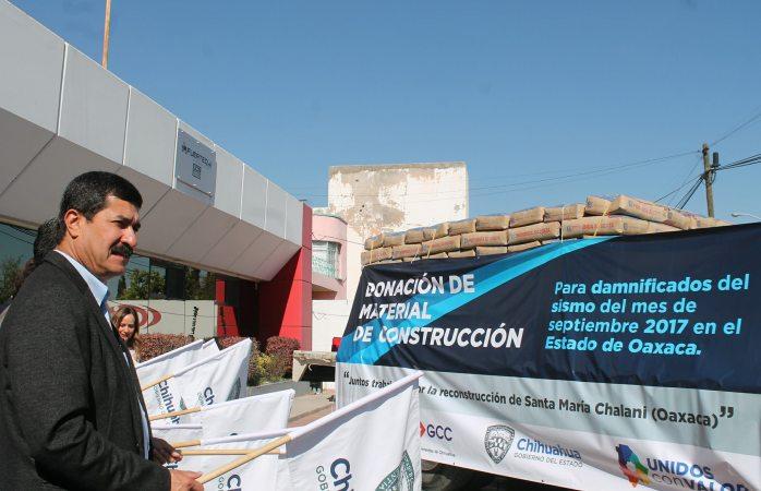 Parten a Oaxaca 6 mil sacos de cemento en apoyo por sismo