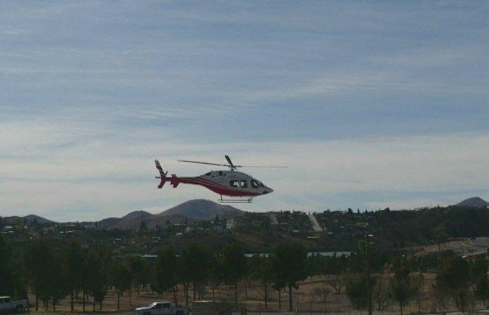 Parte Corral a Juárez en el helicóptero estatal