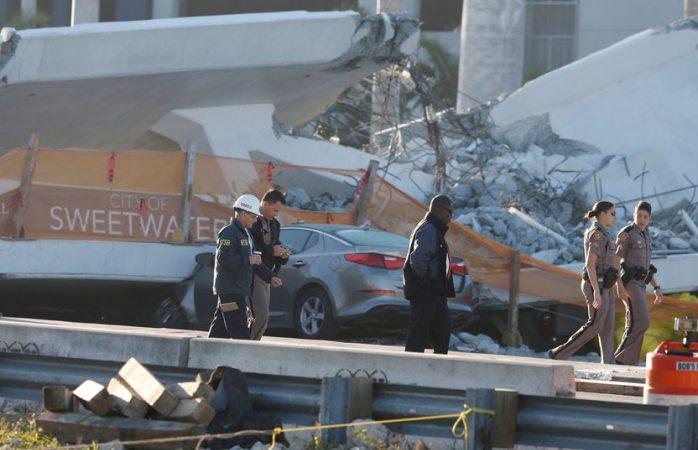 Sube a 6 los muertos por colapso de puente en Miami
