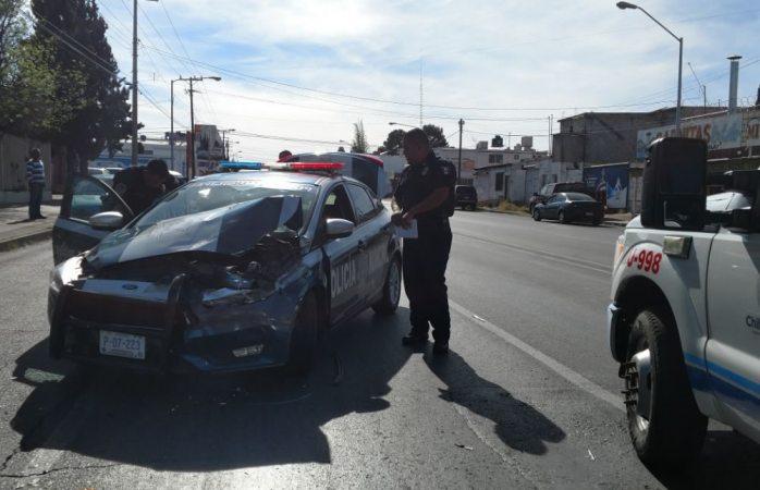 Chocan policía municipal y particular en la Agustín Melgar
