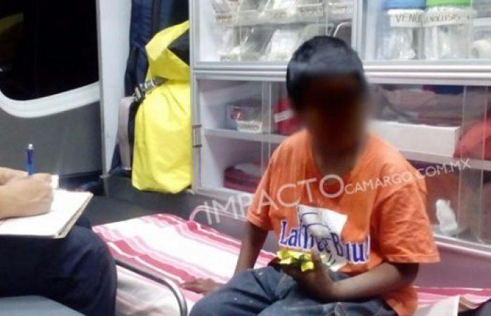 Rescatan a niño de 10 años que deambulaba en parque de Camargo