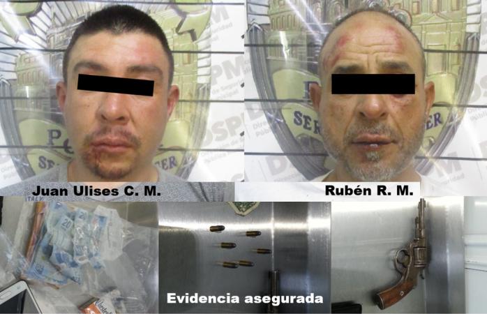 Presentan a detenidos en robo a Dominos