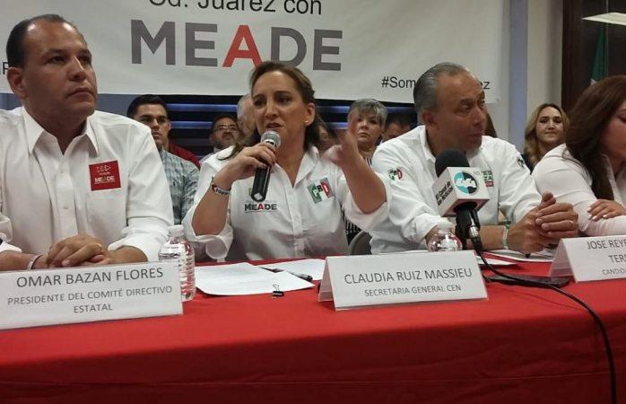 Afirma líder nacional del PRI que regularización de chuecos será un hecho