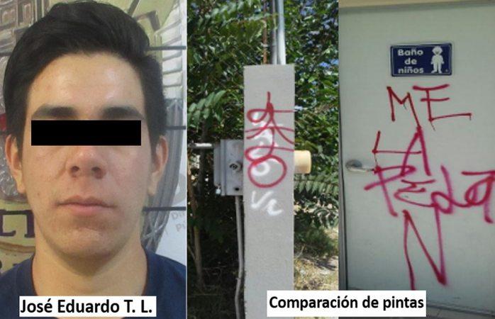 Detenido sospechoso de vandalizar kinder de la Villa Nueva