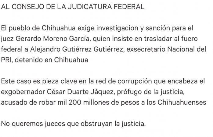 Juntan firmas para que judicatura federal investigue a juez Gerardo Moreno