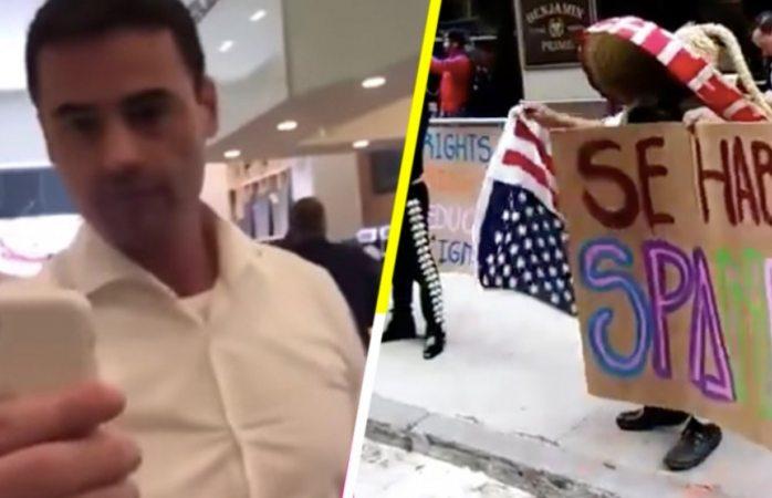 Llevan mariachis a abogado gringo que le molesta que hablen español