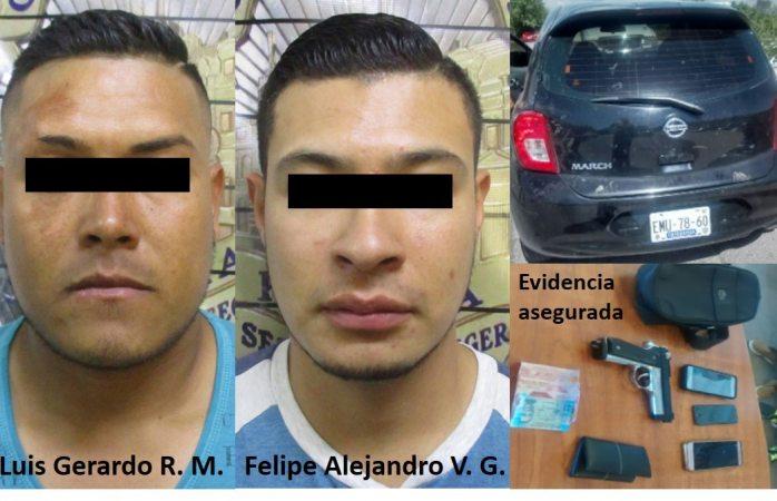 Detienen dos presuntos por asalto a repartidor de big cola
