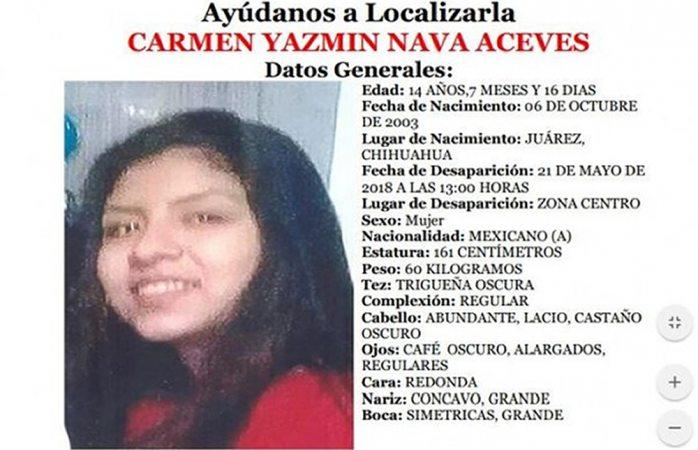 Localizan a estudiante desaparecida en Juárez