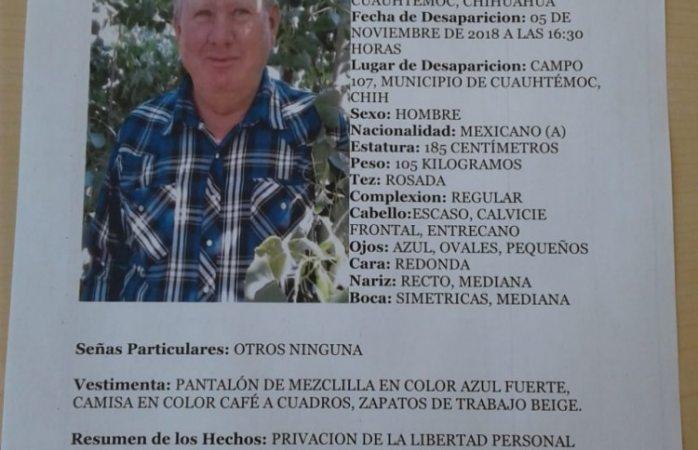 Localizan a menonita reportado como desaparecido