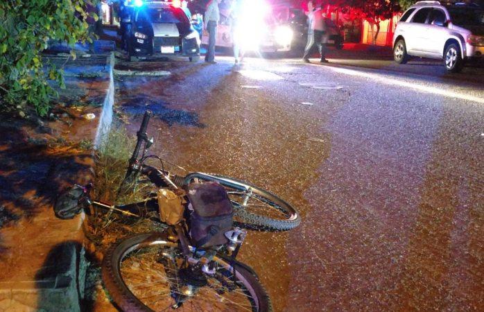 Atropellan a ciclista ebrio en Las Granjas