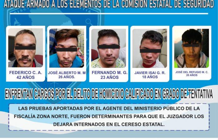 Vinculan proceso a 5 por ataque a policías en Juárez
