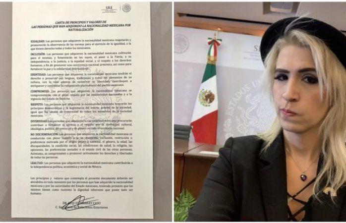 México entrega primera carta de naturalización a persona transgenéro