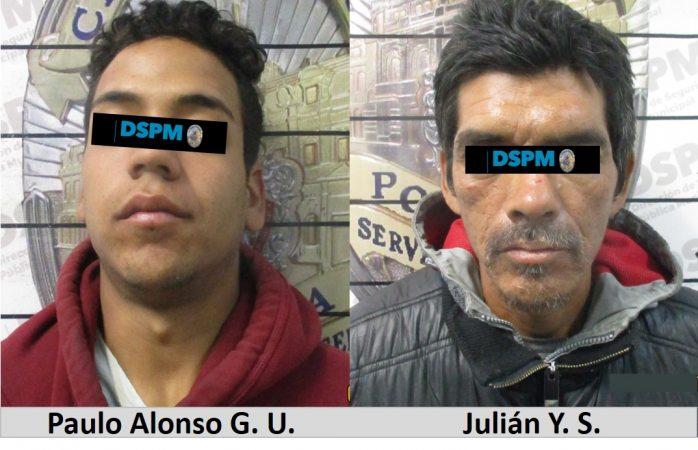 Detienen a dos presuntos ladrones