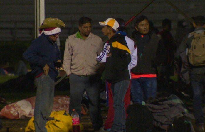 Parte caravana migrante de cdmx y usan hasta el metro