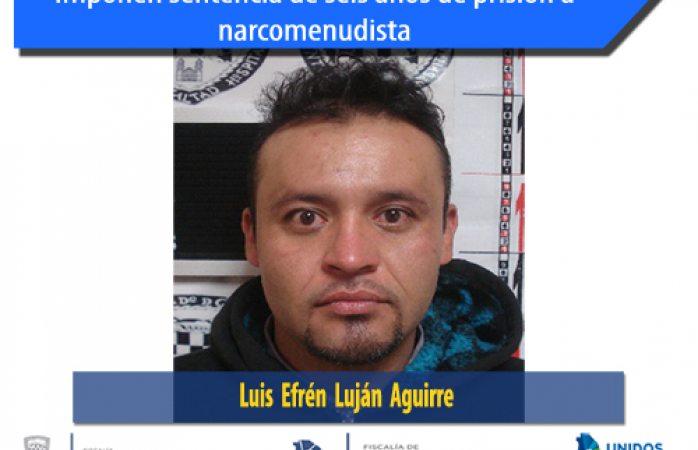 Imponen seis años de prisión a narcomenudista