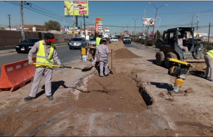 Concluyen obras de reparación en la calle Tecnológico en Juárez